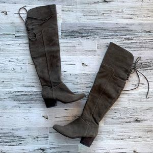 Aldo over the knee suede lace back boots